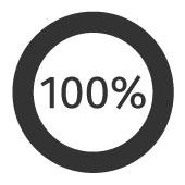 100% d'efficacité