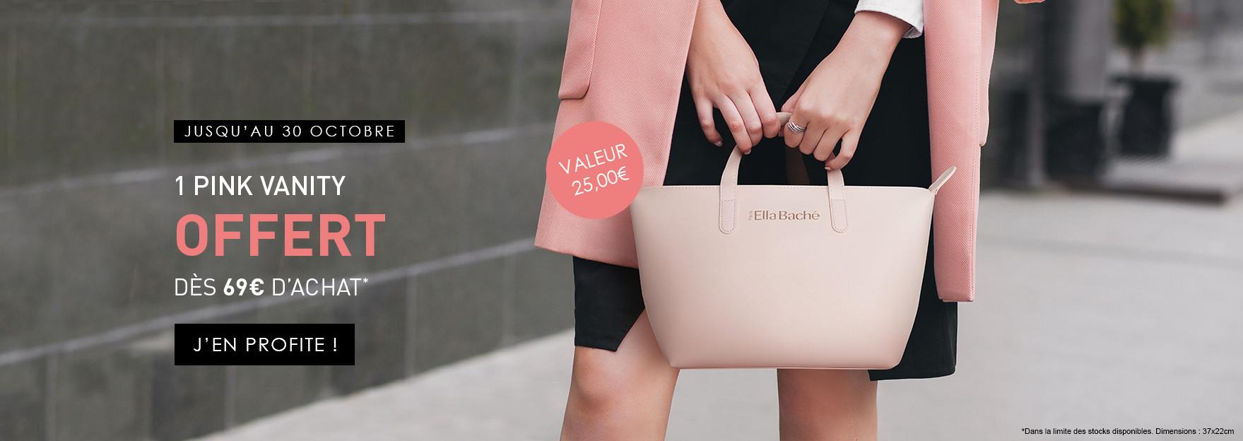 1 Pink Vanity OFFERT dès 69€ d'achat