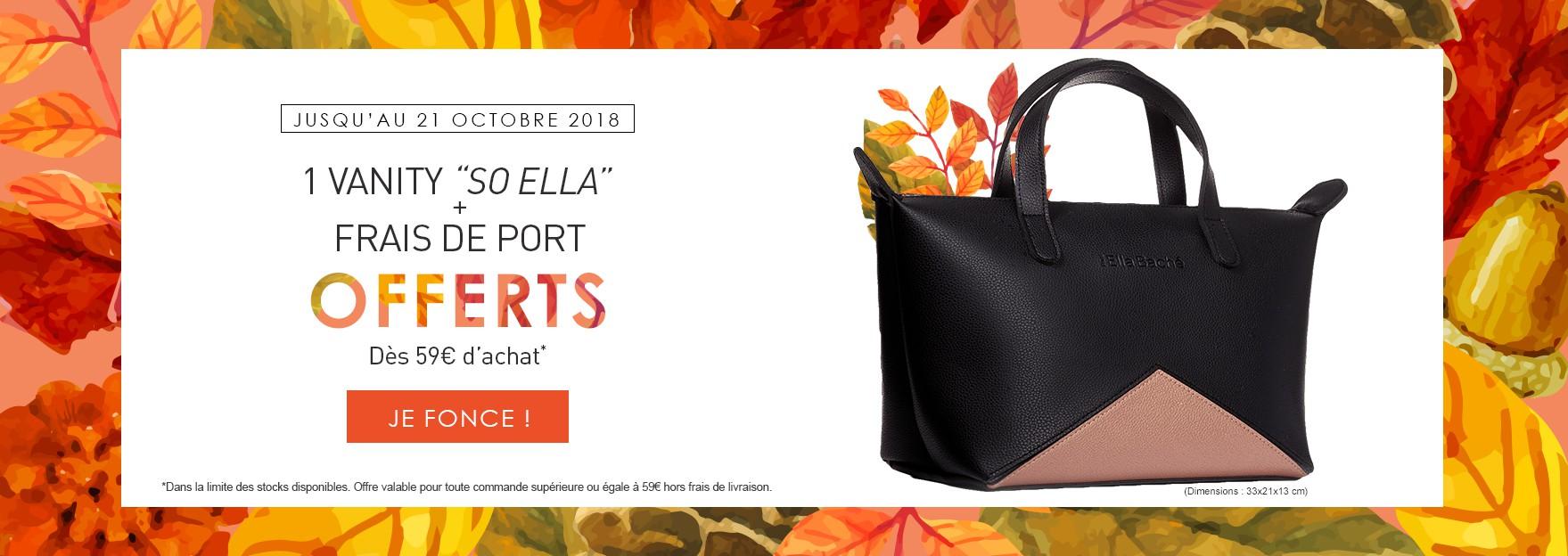 """Un Vanity """"So Ella"""" offert + livraison gratuite dès 59€ d'achat"""